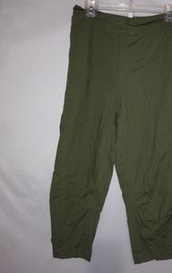 Ellos Olive Cotton Lightweight Pants 20W Plus